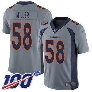 Broncos Von Miller 100th Season Jersey